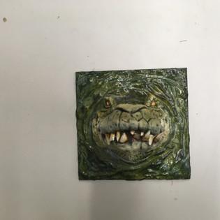 Crocodile painted 2