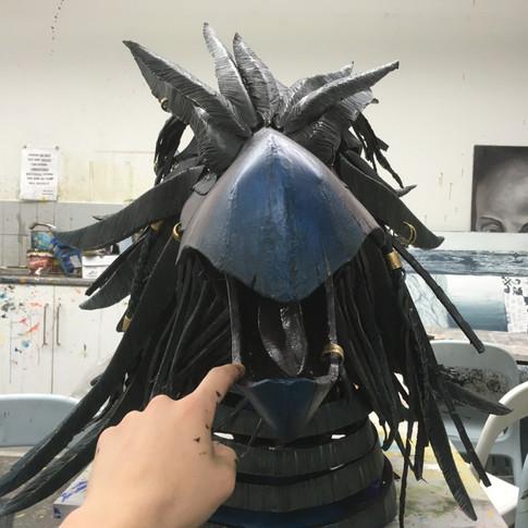 Bird head mouth open