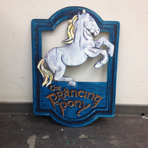 Finished painted sign