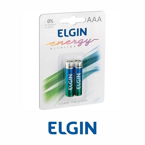 PILHA ELGIN ALCALINA AAA COM 2
