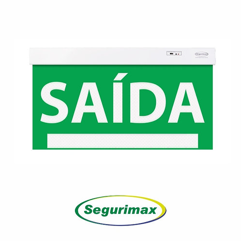 BALIZAMENTO DE SAÍDA DE EMERGÊNCIA VERDE/ 50X25CM – SEGURIMAX