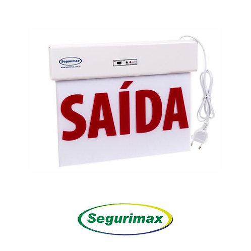 BALIZAMENTO DE SAÍDA DE EMERGÊNCIA VERMELHO / 24X18CM – SEGURIMAX
