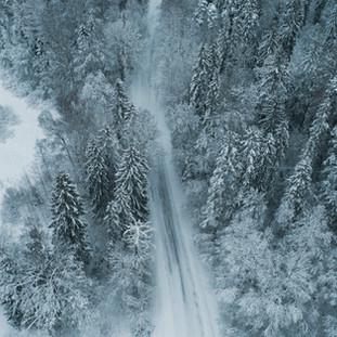 Winter Rural Roads. Mõdriku. Estonia. Copyright © JZeppelina