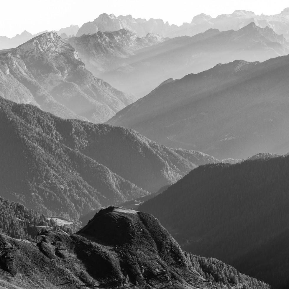 Mountain Layers. Dolomites. Italy. Copyright © JZeppelina
