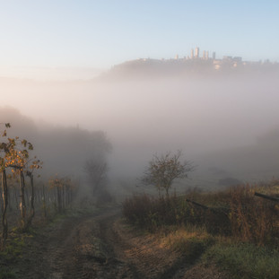 Disappearing City. San Gimignino. Tuscany. Copyright © JZeppelina