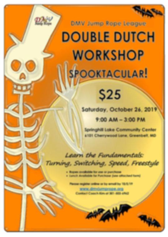 2019 Double Dutch Workshop Spooktacular_