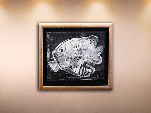 "Original ""Silver Fish"" by Inna Orlik"