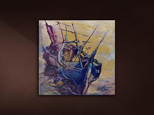 """Original """"Boats"""" by Inna Orlik"""