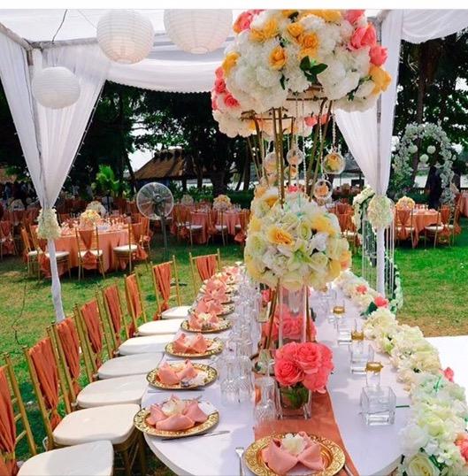 Beautiful table arrangements