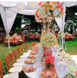 Beautiful table arrangements