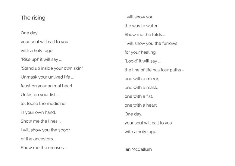 Poem 'The rising'