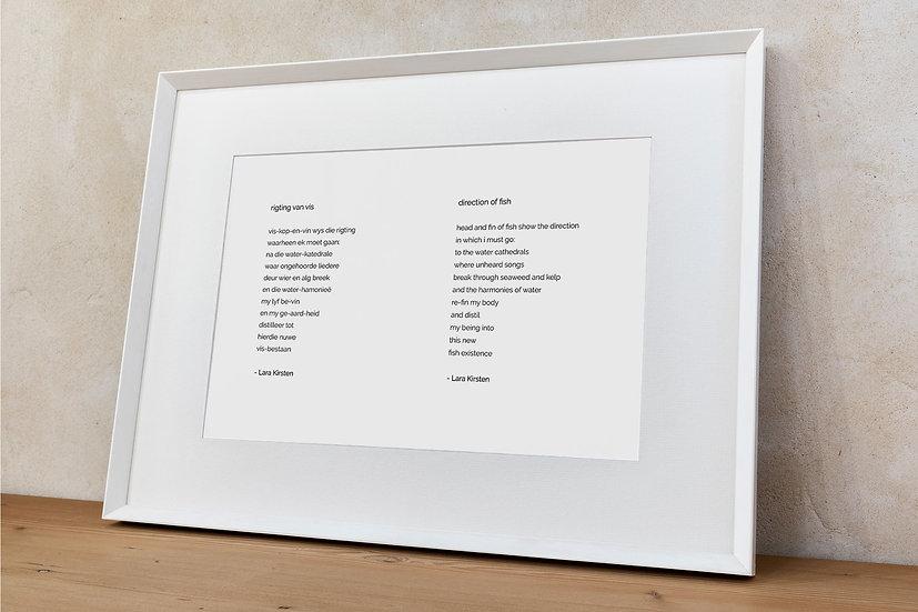 Poem 'direction of fish'