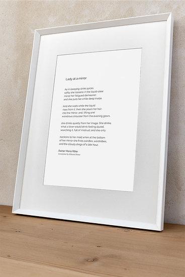 Poem 'Lady at a mirror'
