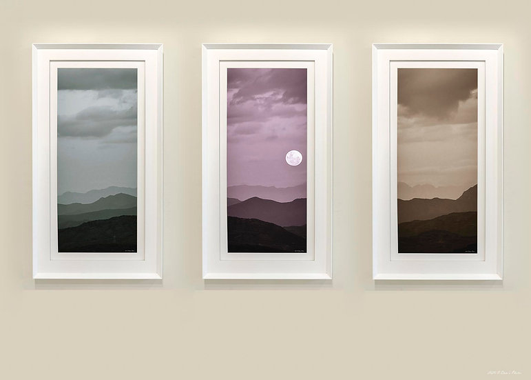 'full moon rising triptych'