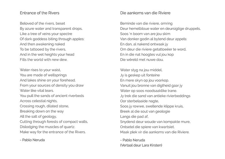 Poem 'Entrance of the Rivers'
