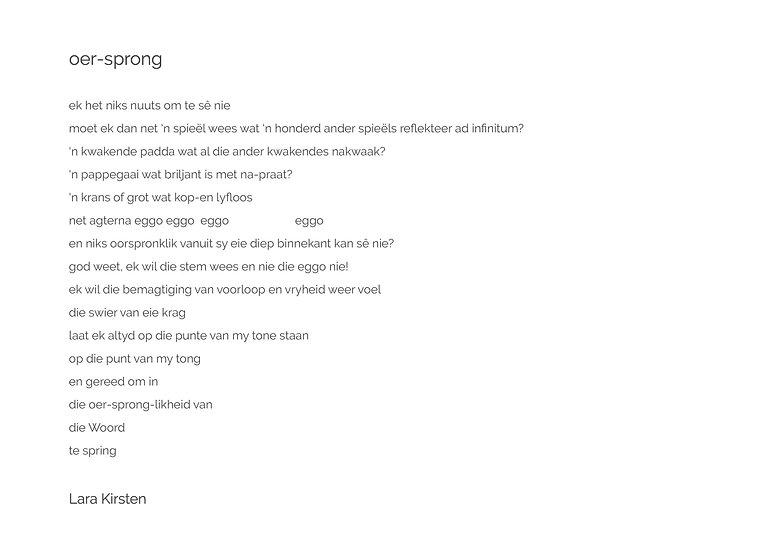 Poem 'oer sprong'
