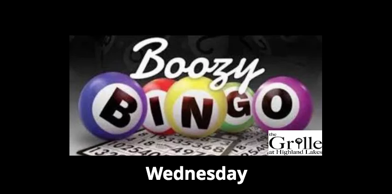 Boozy BINGO at The Grille at Highland Lakes
