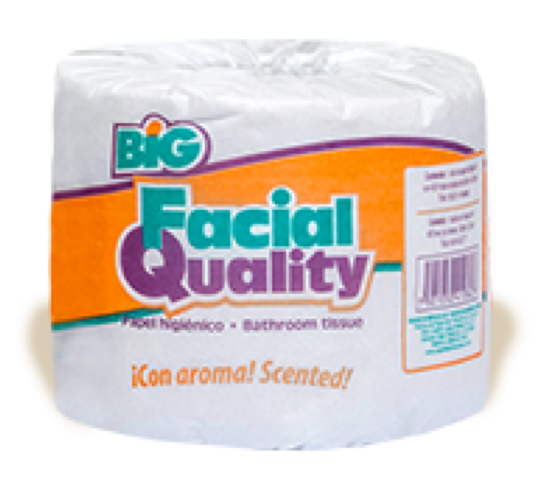 "PAPEL HIGIENICO ""FACIAL QUALITY"" 400 HD C/80PZ CJ"