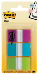 BANDERITAS POST-IT COLORES FRIOS PAQUETE CON 60