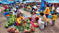 Heinz Peks (Germany) - Markttag in Peru.