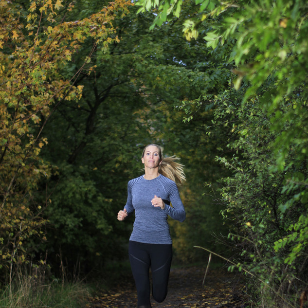 Christine Ronge - Belebendere Jogging Runde in Düsseldorf
