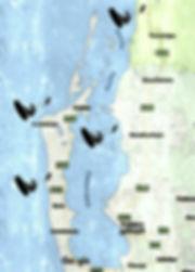 mapa de los spots de kite en sri lanka.j