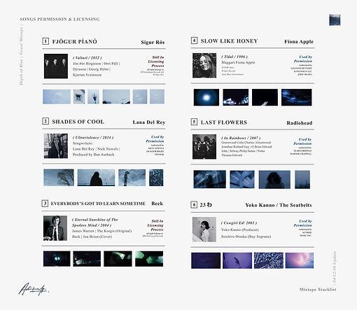 DEPTH OF BLUE; Licensing Process