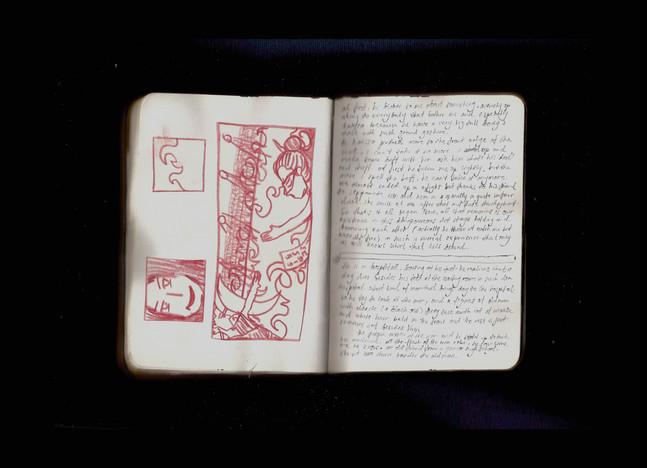 [Spread95] (cont.) Dream Journal - Fire (Fragment)