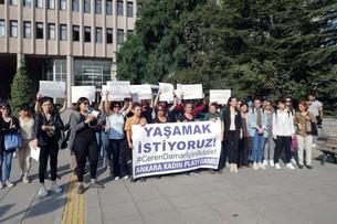 Ceren Damar davası: Kadınlar adliye koridorlarına sığmadı