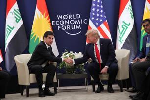 Donald Trump û Nêçîrvan Barzanî civiyan