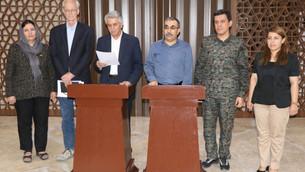 Partiyên Yekitiya Nîştimanî ya Kurdî û ENKS'ê daxuyaniyeke hevpar da
