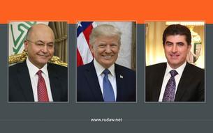 Koşka Spî: Donald Trump bi Nêçîrvan Barzanî û Berhem Salih re dicive