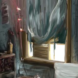 carolines room paintig