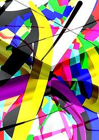 Gemälde, kalte Farben, abstrakt, Kunstgallerie
