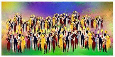 """Gemälde """"geschlossene Gesellschaft"""" Kunstgallerie abstrakte Kunst, Krypto Kunst"""