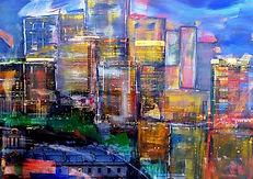 Bild London, Kunstgallerie abstrakte art, digitale Kunst