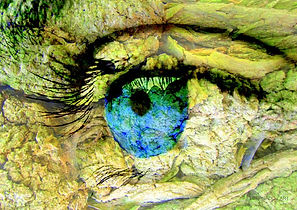 Collage Eyes, abstrakt neu, Kunstgallerie abstrakte Kunst