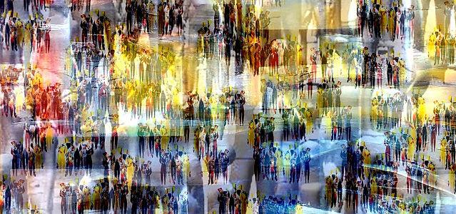 People, Gemälde, Kunstgalerie abstrakte Kundt