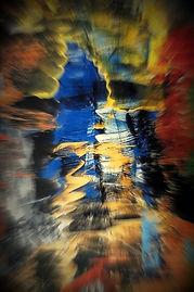 Gemälde Inside, Abstrakte Kunst, Digitale Kunst