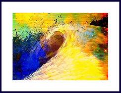 Atlantis abstrakte Collage Original von Bernd Lauer 2010