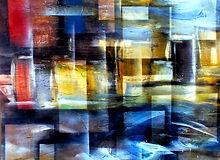 Gemälde, abstrakte Kunst, wohnen am Wasser