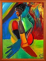 Ölgemälde Aspiration  80 x 60 cm Öl auf Leinwand Galerierahmen