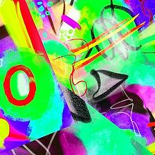Kunst! Bunte Abstraktion