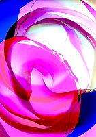 Gemälde Abstrakte Rosenblüte, Rose, Kunstgalerie abstrakte Kunst