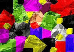 Gemälde, abstrakte kunst, Collage
