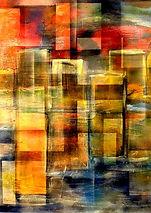"""Gemälde """"Wohnen"""" abstrakte Kunst, Digitale Kunst"""