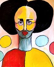 Gemälde Sad Clown Öl on Canvas 60 x 50 cm