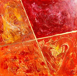 Bild abstrakte Kunst Liebe