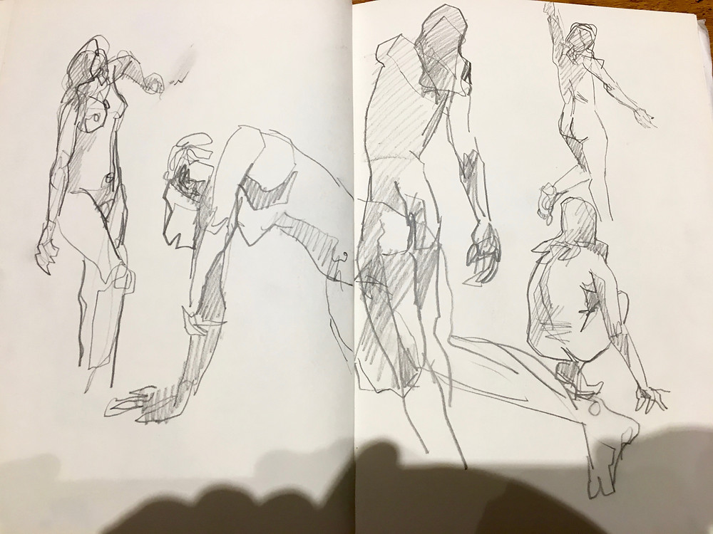 Think that I like these 2 min sketches more than the longer ones these days ?