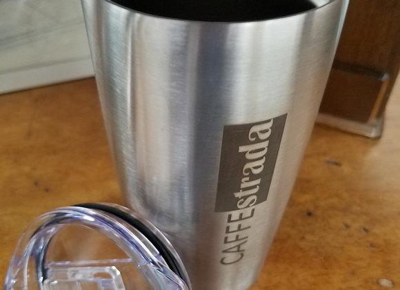Caffe Strada 20 oz. Silver Tumbler